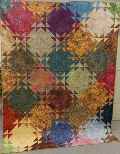 L' Fair Quilts.  Batik Blur