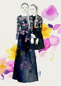 Valentino FW13 illustrated by Teri Chung
