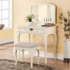 Three Posts Brownridge 1 Drawer Vanity Set with Mirror
