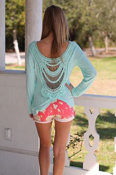 Soft Mint Top