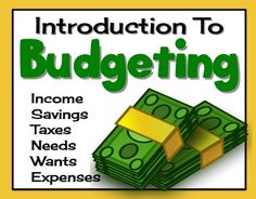 BUDGETING & FINANCES: An Introductory Powerpoint Presentation