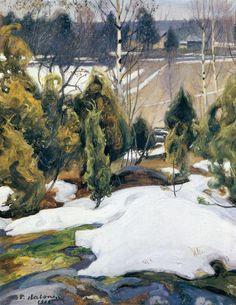 """""""Viimeinen Lumi"""" c.1908 - Pekka Halonen (Finnish)"""