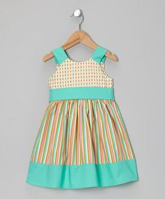 Take a look at this Pink Flower Stripe A-Line Dress - Toddler & Girls by Calico Monkey on #zulily today!