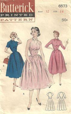 Butterick 6573 Vintage 50s Sewing Pattern by studioGpatterns, $16.50