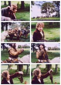 The Hobbit: An Unexpected Journey, Bilbo's handkerchief. This was one of my favorite scenes!!! Hahhaa