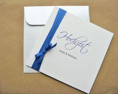 """Hochzeitskarte """"Purist"""" Hochzeitseinladung"""