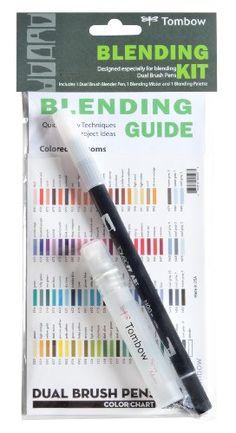 Tombow Blending Kit for Dual Brush Pens, includes Blending Palette, Colorless Blender, Spray Mister and Blending Instructional Guide (56180)