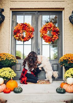 Our Fall Front Porch Decor | The Sweetest Thing | Bloglovin'