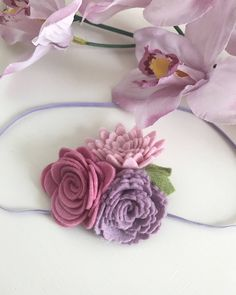 Flower cluster flowercrown felt baby floral headband photoprop by beautifullybohox on Etsy