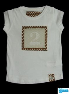 Number - White tshirt for girlwith fabrics by BebuzzyandFriends, €15.00