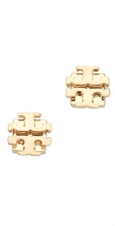 Tory Burch gold-plated small logo studs - love!
