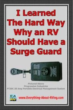 I Learned The Hard Way Why an RV Should Have a Surge Guard submitted by Randy Hobbs from Wilson Texas on the RVing Tips & Tricks Page. Do It Yourself Camper, Rv Camping Tips, Camping Ideas, Camping Stuff, Camping Life, Camping Products, Family Camping, Rv Trailers, Travel Trailers