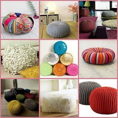 More floor cushion ideas... too bad I really don't know how to sew anything but a backdrop!