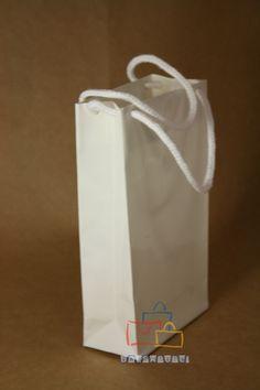 Fuelle bolsa papel básica asa algodón