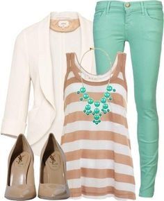 Day/ night outfit teal and tan. Stitch Fix spring/summer 2016
