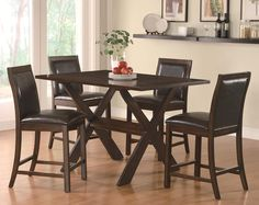 Dobson 5 Piece Counter Height Table and Chair Set by Coaster