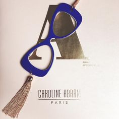 Electric Blue and Gold Alice, Face à main by #carolineabram #eyewear #faceamain #accessories #fashion #glasses #jewelry #parisian #french