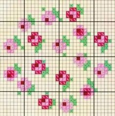 This Pin was discovered by TC.  KB:  Use these roses as hours for a cross stitch clock.