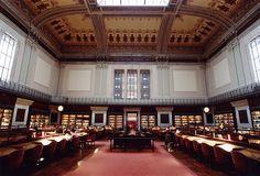 Salón general de lectura de la Biblioteca Nacional de España