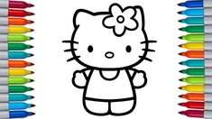 Hello Kitty also known by her full name Kitty White is a fictional character produced by the Japanese company Sanrio, created by Yuko Shimizu and currently d. Hello Kitty Colouring Pages, Coloring Pages For Kids, Yuko Shimizu, Fluttershy, Rainbow Dash, Let It Be, Make It Yourself, Hello Kitty Coloring, Coloring Pages For Boys