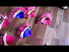 Making a Creative and Easy Fabric Latkan For Lehanga New Saree Blouse Designs, Saree Tassels Designs, Saree Kuchu Designs, Blouse Patterns, Kids Frocks Design, Hand Work Embroidery, Paper Crafts Origami, Handmade Beaded Jewelry, Fabric Jewelry