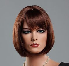 Wonderful Gentle Pretty Medium Straight Bobo Women Wigs