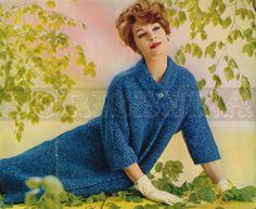 modèle de tricot manteau Vintage (années 60) (PDF)