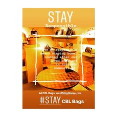 """CBL Bags with Stories on Instagram: """"🙏🏻🏡♥️ CBL Bags at Home ~ To be #responsible means staying home, looking after our loved ones and in turn our communities. ♥️🏡🙏🏻 #StaySafe…"""""""