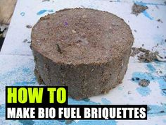 Bio fuel briquettes, compress paper pulp and sawdust into fuel bricks. This is an interesting tutorial to make your own fire logs. I enjoyed reading all the comments by similar thinking people. Survival Food, Camping Survival, Survival Prepping, Emergency Preparedness, Survival Skills, Survival Stuff, Bushcraft Skills, Survival Hacks, Homestead Survival
