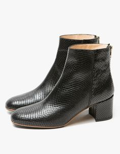 9d1e122add0a ATP Atelier   Mei Boot in Black Snake
