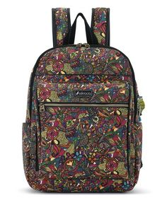 Loving this Rainbow Floral Artist Circle Backpack on #zulily! #zulilyfinds