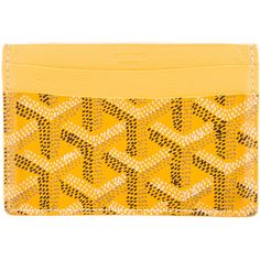 Pre-owned Goyard Goyardine St. Sulpice Cardholder (2.755 DKK) ❤ liked on Polyvore featuring bags, wallets, yellow, pre owned bags, multicolor bag, coated canvas bag, colorful wallets and goyard