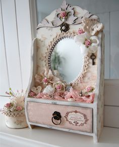 mirror with drawer *Dusty Attic* - Scrapbook.com
