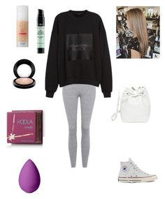 """""""Me"""" by nisa091 ❤ liked on Polyvore featuring Topshop, Alexander Wang, Converse, Mansur Gavriel, Benefit, MAC Cosmetics, Hoola, beautyblender and L'Oréal Paris"""