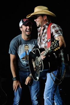 My two favorite people in the world!!!! Jason Aldean and Luke Bryan!!!!!