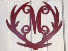 Deer Antler Monogram Door Hanger