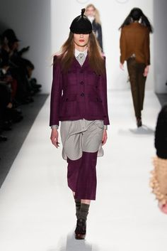 Wine-colored suit at the Ruffian fall 2013 #fashion show | #wine