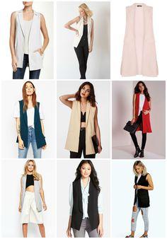 Sleeveless Blazer - Head to Toe Chic Sleeveless Blazer Outfit, Long Vest Outfit, Sleeveless Coat, Cardigan Outfits, Sleevless Blazer, Blazer Vest, Chic Outfits, Fashion Outfits, Fashion Trends