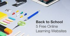 Go Back to School with These 5 Free Online Learning Websites Learning Websites, Going Back To School, Life Organization, Online Courses, Coding, Free, Apps, Japanese, Technology