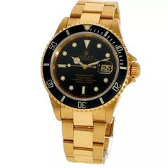 Rolex Submariner ref. 16618 (D+P - Spiegelgracht Juweliers Expensive Watches, Most Expensive, Vintage Watches For Men, Vintage Rolex, Luxury Watches, Rolex Watches, Amsterdam Shopping, Rolex Submariner, Best Model