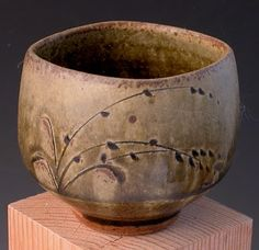 Ash-glazed teabowl by Phil Rogers