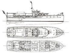 Scout | Plans | A 73 foot commuter yacht | McMillen Yachts Cabin Cruiser, Plan Drawing, Wooden Boats, Yachts, Photo Credit, Sailing, Vehicle, Restoration, Ships
