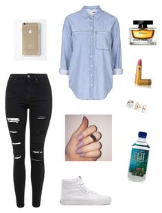 """✌"" by paradise19t ❤ liked on Polyvore featuring Topshop, Vans, Lipstick Queen, Dolce&Gabbana, women's clothing, women, female, woman, misses and juniors"