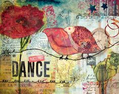 """""""Just Dance"""" -Collage with paper and napkin"""