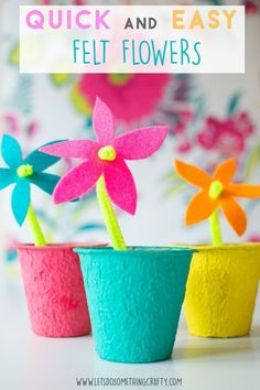 The EASIEST Felt Flowers - PERFECT CRAFT FOR KIDS!