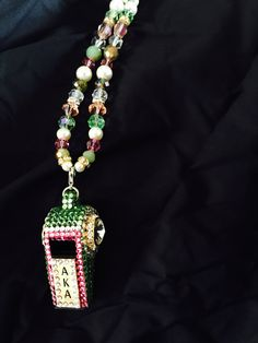 This beautiful whistle! Look at that detail! Aka Sorority, Alpha Kappa Alpha Sorority, Sorority Life, Aka Apparel, Pretty In Pink, Pretty Girls, Aka Paraphernalia, My Sisters Keeper, Divine Nine