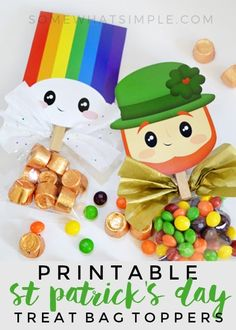 I can't even stand how adorable these St. Patrick's Day Treat Bag Toppers are.