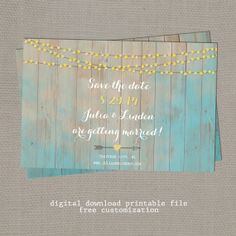 Save the Date Rustic Whimsy  Digital Download by Indiginess, $15.00