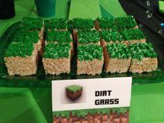 Minecraft Kindergeburtstags Party Snacks und Ideen *** Minecraft Dirt Grass Recipe for Kids Birthday Party