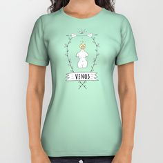 """All Over Print Shirt """"Venus"""" by Elena Lourie. Worldwide shipping available at Society6.com. #society6  #tshirt #apparel #dress #clothes  #print #textile #textiledesign #surfacedesign #colorful #fundesign #printshop #shop #shopping #sale #forsale #elenalourie #gift #giftforgirls #society6art #society6shop"""